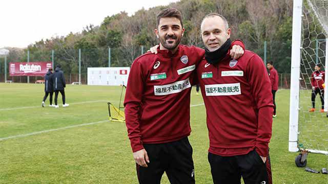 Lo mejor de Iniesta y Villa en el empate del Vissel Kobe