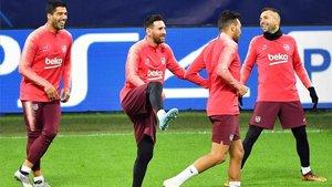 Messi, entrenando con normalidad en Milán
