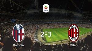 El Milan se lleva los tres puntos frente al Bolonia (2-3)