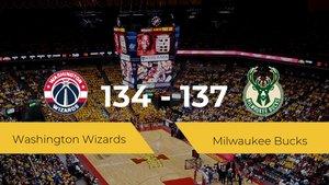 Milwaukee Bucks se impone por 134-137 frente a Washington Wizards