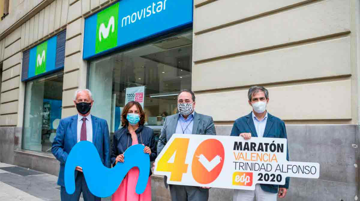 Movistar se convierte en el nuevo patrocinador tecnológico del Medio y Maratón Valencia