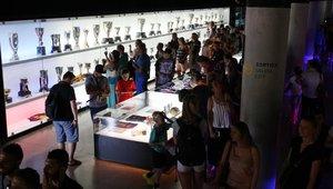 El museo del Camp Nou es uno de los más visitados de España