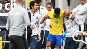 Neymar, lesionado