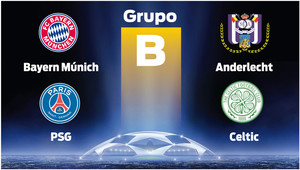 Neymar tendrá como principal rival al Bayern en el grupo B de la Champions League 2017-18