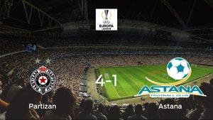 El Partizan suma tres puntos tras pasar por encima al Astana (4-1)
