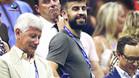 Piqué no se perdió el duelo entre Djokovic y Zverev