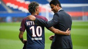 El presidente del PSG, eufórico, ha asegurado que ni Neymar y Mbappé se moverán del equipo parisino