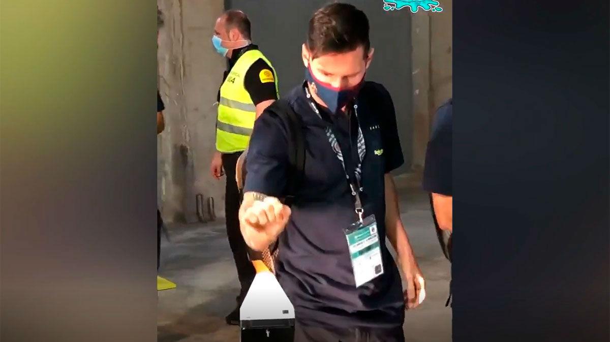 ¿Qué pasó en el control de temperatura con Messi?