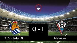 La Real Sociedad B cae derrotado frente al Mirandés por 0-1
