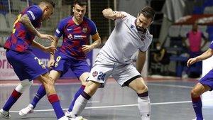 Un reciente partido entre el Barça y el Levante