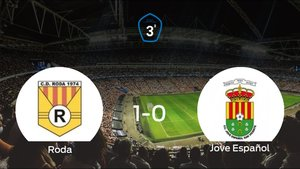 El Roda logra la victoria después de ganar 1-0 al Jove Español
