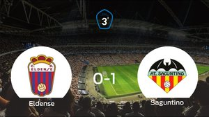 El At. Saguntino consigue los tres puntos tras derrotar 0-1 al Eldense