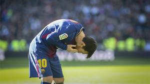 La secuencia de la celebración de Leo Messi en el Bernabéu