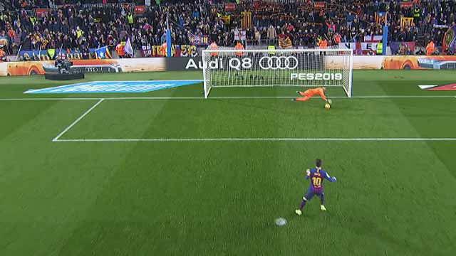 A la segunda fue la vencida: Masip adivinó el lanzamiento de Messi y paró el penalti