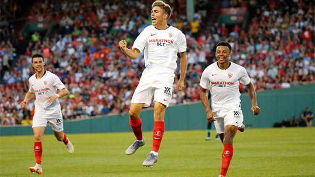 El Sevilla tumba al Liverpool con un gol de Pozo en el último minuto