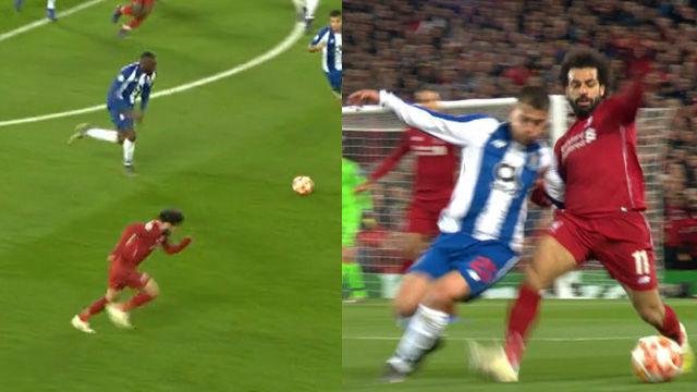 ¡Sprinta durante todo el campo para robar un balón! La salvajada de Salah ante el Porto