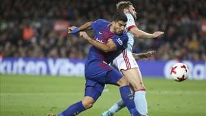 Suárez quiere marcar por rpimera vez en Anoeta