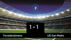 El Torredonjimeno empató frente al San Pedro (1-1)