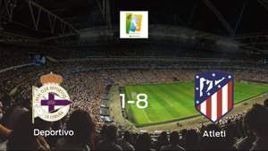 Triunfo del Atlético de Madrid Femenino tras golear 1-8 en el estadio del Deportivo Abanca
