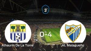 Triunfo del At. Malagueño tras golear 0-4 en el estadio del Alhaurín De La Torre