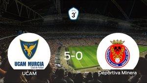 El UCAM B golea 5-0 en El Mayayo a la Deportiva Minera