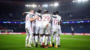 El United conquistó París en la Champions League.