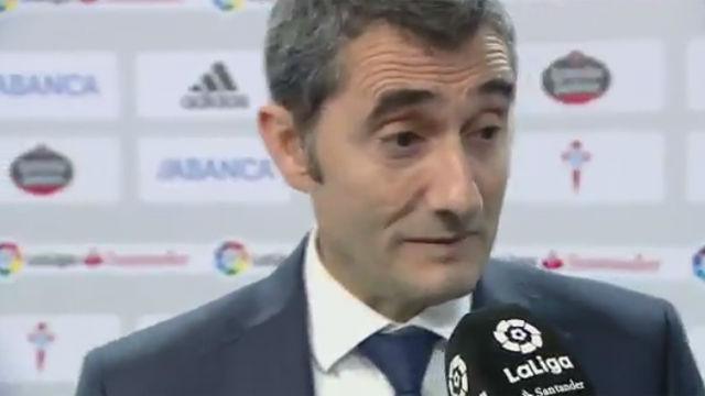 Valverde: El empate es justo