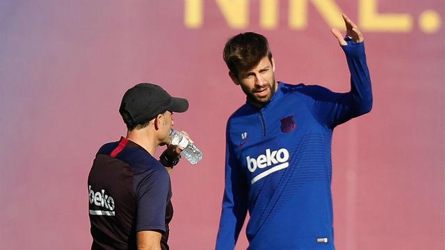Valverde, sobre Piqué y la Copa Davis: Si lo veo centrado, jugará