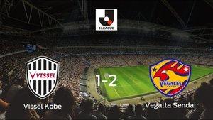 El Vegalta Sendai gana al Vissel Kobe en el NOEVIR Stadium Kobe (1-2)