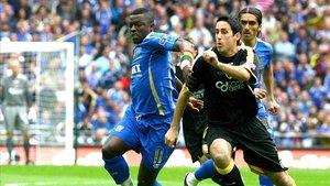 Whittingham, de negro en la imagen, en las filas del Cardiff City
