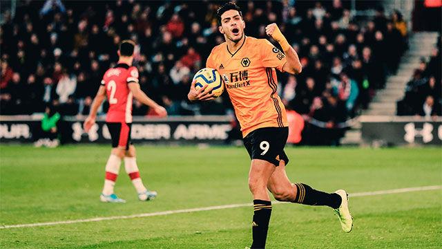 El Wolverhampton consiguió los tres puntos en casa del Southampton