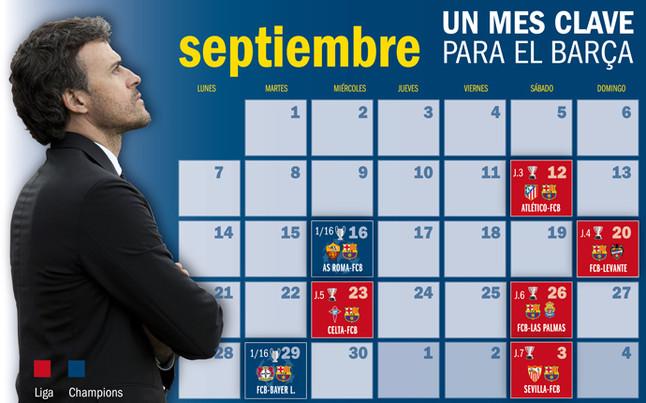 Calendario Del Barca.Al Barca Le Esperan 7 Partidos En 22 Dias