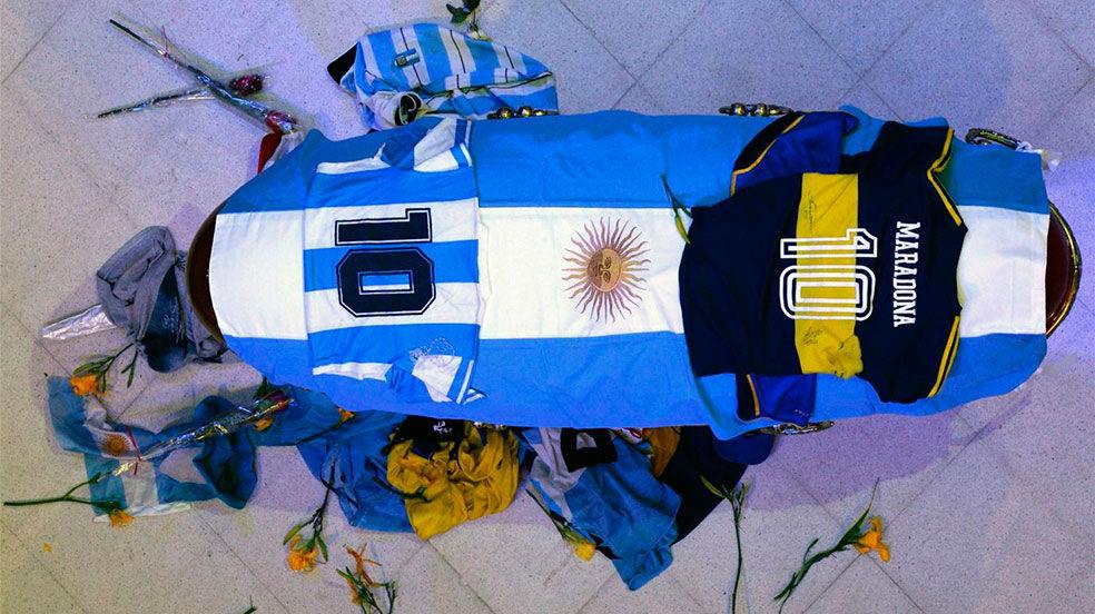 Argentina despide a Maradona, en directo