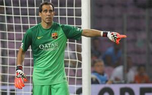 Claudio Bravo, confiado en sus posibilidades en el FC Barcelona