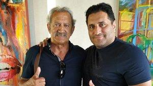 David Vidal ha firmado por el Racing Murcia de Morris Pagniello, con el que aparece en las imágenes