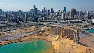 Descubre el antes y el después del puerto de Beirut tras la explosión
