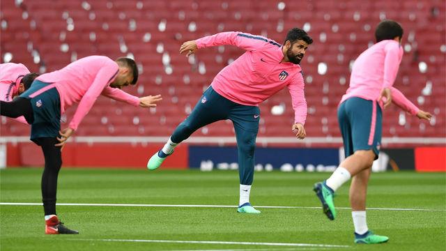 Diego Costa entrenó con normalidad antes del partido contra el Arsenal