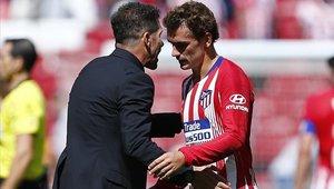 Diego Simeone le agradeció a Antoine Griezmann por todo lo dado
