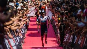 Entrada Meta del Ironman de Vitoria la pasada edición