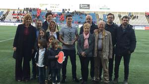 La familia de Dani Montesinos entregó el premio en Figueres a Àlex Palomar, último ganador
