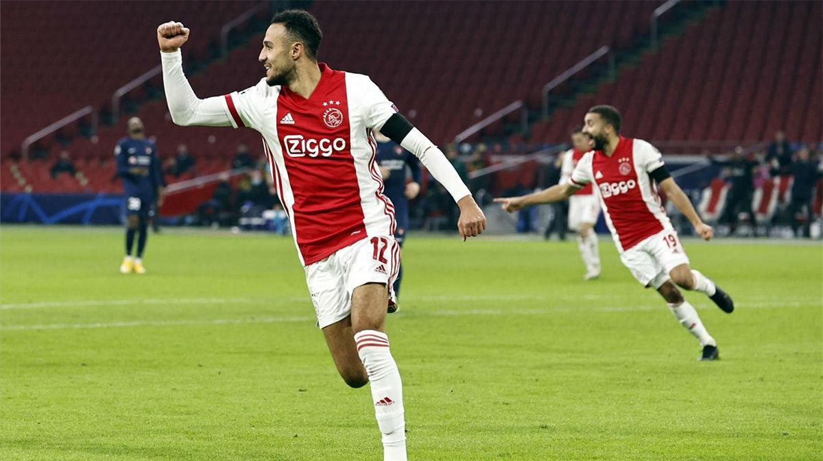 El gol de Noussair al Midtjylland