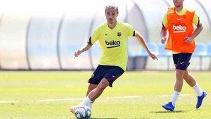 Griezmann ha sido el protagonista del entrenamiento del Barcelona