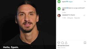Ibrahimovic dice que regresa a España