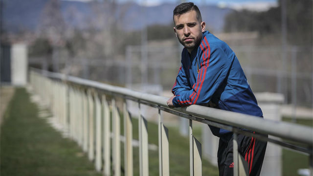 Jordi Alba, con más confianza que nunca