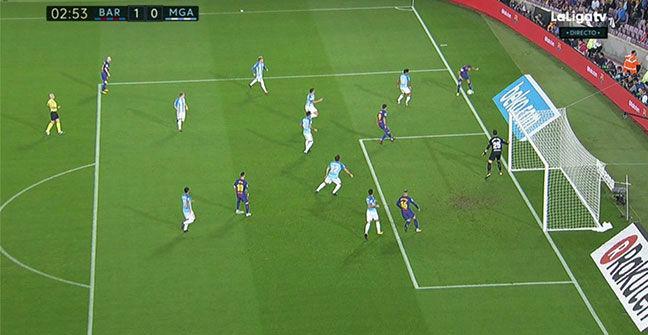 LALIGA | FC Barcelona-Málaga (2-0): El gol de Deulofeu