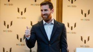 Leo Messi fue el gran protagonista en el Paseo de Gracia