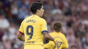 Luis Suárez se lesionó ante el Athletic