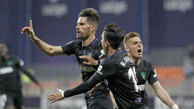 El Málaga cumple y gana al Rayo Mahadahonda