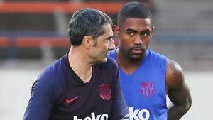 Malcom no gozó de oportunidades con Ernesto Valverde