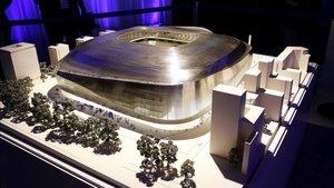 Maqueta del proyecto de reforma del Bernabéu